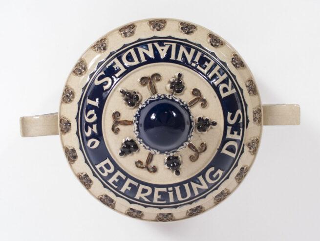 Rhineland Liberation 1930 large Bowl Rheinland Befreiung 1930 (Westerwald pottery)