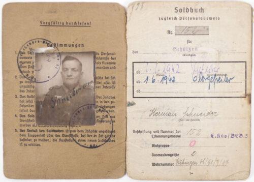 Soldbuch - Bau Ersatz Batl. 5.