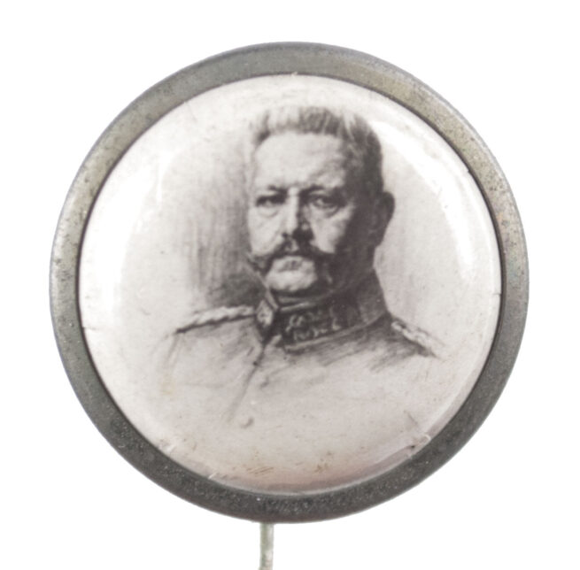 WWI German patriotic stickpin badge Paul von Hindenburg