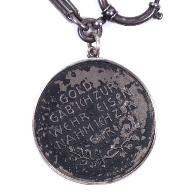 WWI Gold gab ich für Eisen watch-chain and medal