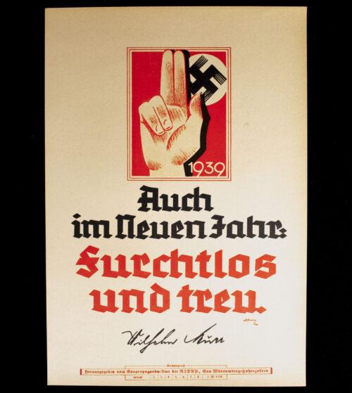 WWII German NSDAP Wochenspruch (propaganda miniposter) (1943)