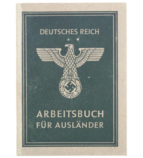 Arbeitsbuch für Ausländer (Ostarbeiter) with passphoto