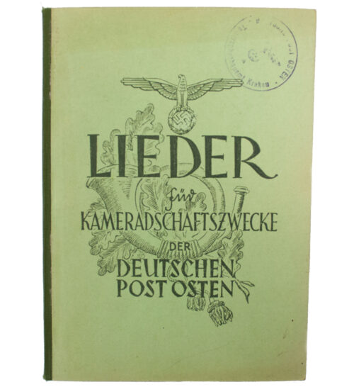 (Book) Lieder für Kameradschaftszwecke der Deutschen Post Osten, Generalgouvernement (1943)