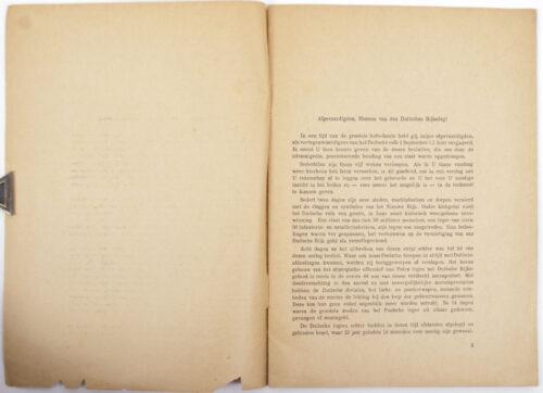 (Brochure) Hitler - Rede van den Führer in den Rijksdag op 6 october 1939