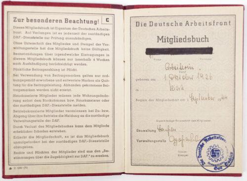 Deutsche Arbeitsfront (DAF) Memberbooklet (Late war variation!)