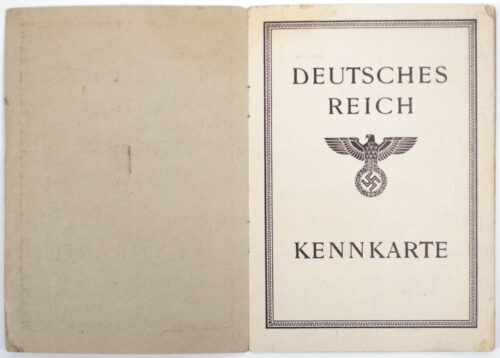 Deutsches Reich Kennkarte - Late war 1945 paper variation