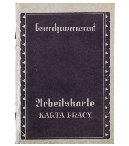 Generalgouvernement Arbeitsbuch Arbeitskarte Karta Pracy – Arbeitsamt Warschau (1941)