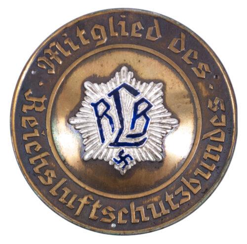 Large metal Türplakette Mitglied des Reichsluftschutzbundes