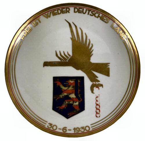 (PlateTeller) Rheinland Befreiung Frei ist wieder Deutsches Land 30-6-1930