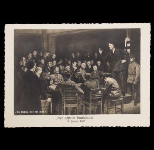 (Postcard) Adolf Hitler Der Befreier Deutschlands 30. Januar 1933