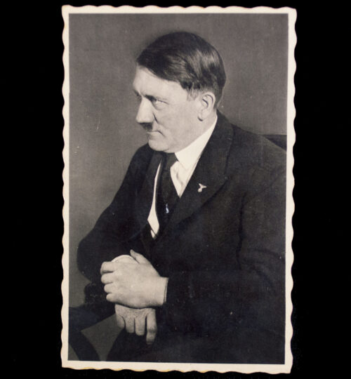 (Postcard) Adolf Hitler with first day stamps from Vienna 1938