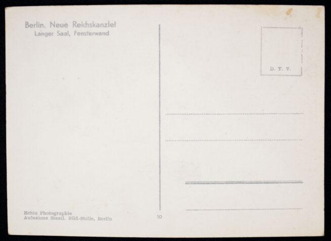 (Postcard) Berlin, Neue Reichskanzlei, Langer Saal, Fensterwand