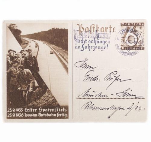 (Postcard) Erster Spatenstich 1000 km Autobahn