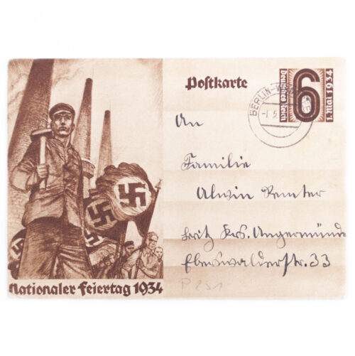 (Postcard) Nationaler Feiertag 1934