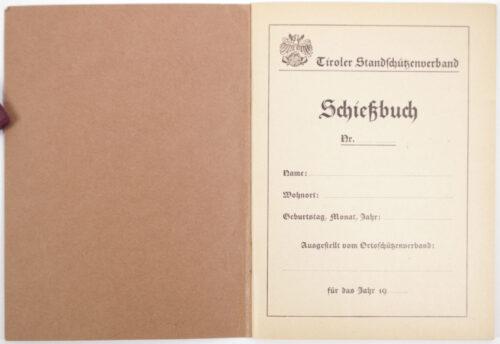 Tiroler Standschützenverband Jahres Schießbuch für Pflichtübungen