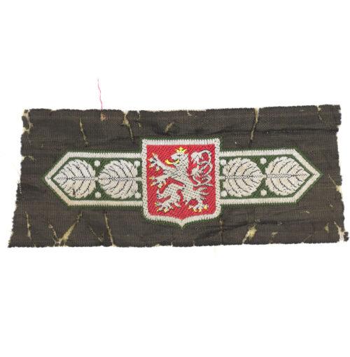 WWII Protetorate Bohemia-Moravia cloth breast badge (extremely rare!)