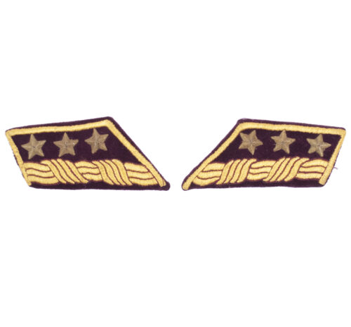 WWII Slovak Armed Forces Colonel collar tabs (Very Rare!)