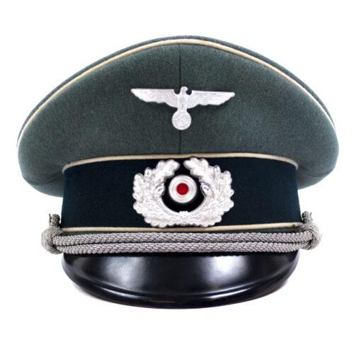 Wehrmacht (Heer) Infanterie Schirmmütze (maker Emil Stammnitz)