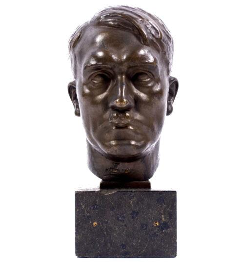 Adolf Hitler bronze bust on marble base (signed by artist H. M. Ley!) (1932)