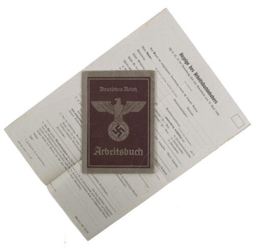 Arbeitsbuch Arbeitsamt München PostamtBahnpostamt