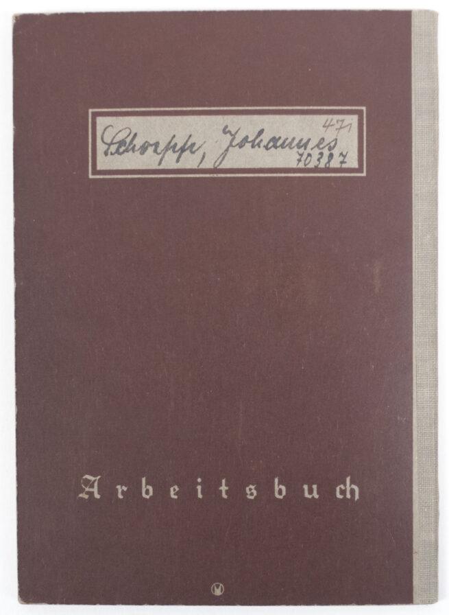 Arbeitsbuch First Type Arbeitsamt Rottenburg - Gebruder Junghans A.G