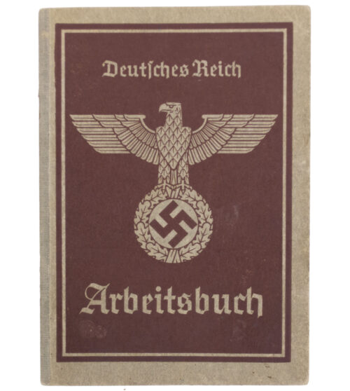 Arbeitsbuch second type Arbeitsamt Frankfurt A.M