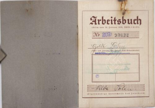 Arbeitsbuch second type Arbeitsamt Kassel - Continental Gummi-Werke!