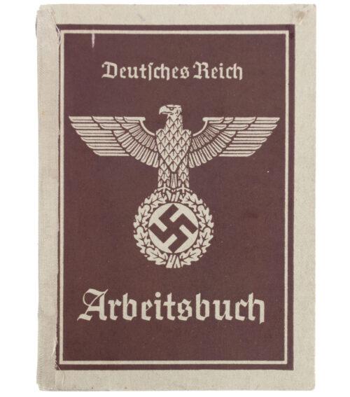Arbeitsbuch second type Arbeitsamt Stettin (Reichstreuhändler)