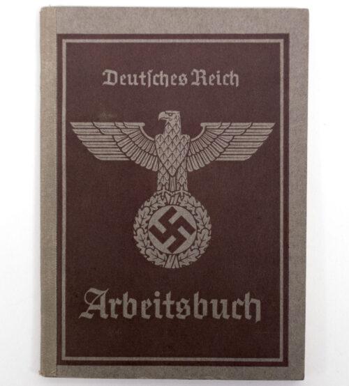 Arbeitsbuch second type Arbeitsamt Wien - with Wehrmacht (heer) Standort Wien Eintragug!