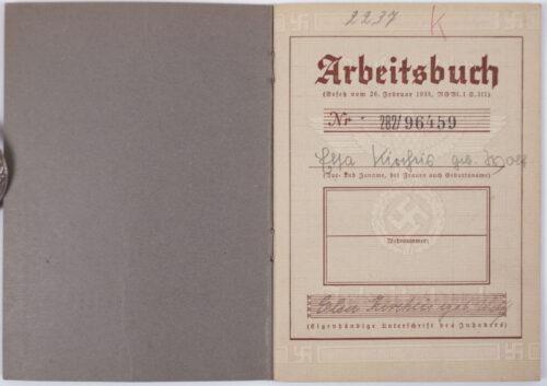 Arbeitsbuch second type Arbeitsamt Zwickau (Auto Union-AG Zwickau)