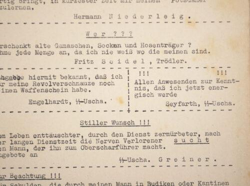 Bierzeitung Festordnung Waffen-SS