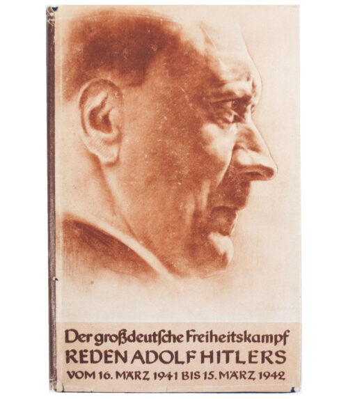 (Book) Der Grossdeutsche Freiheitskampf. Reden Adolf Hitlers vom 16 Marz 1941 bis 15 Marz 1942 (with dustjacket)