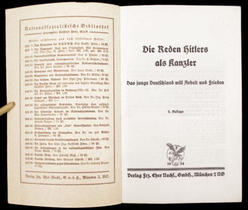 (Book) Die Reden Hitlers als Kanzler (1934)