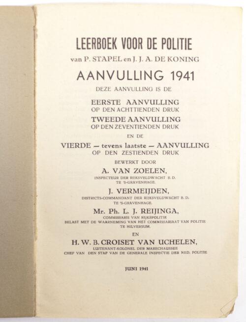 (Book) Leerboek voor de Politie - Aanvulling Juni 1941