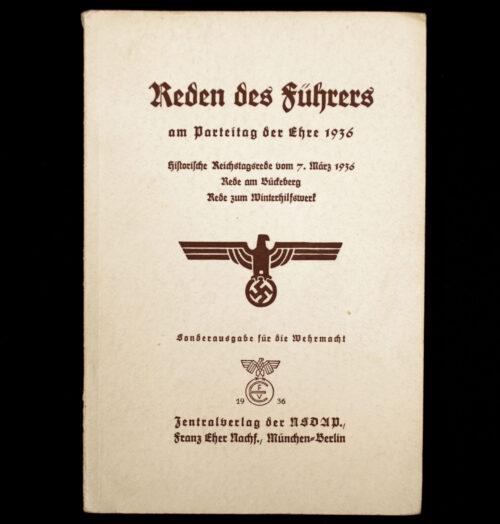 (Brochure) Die Reden Hitlers am Reichsparteitag der Ehre (1936)