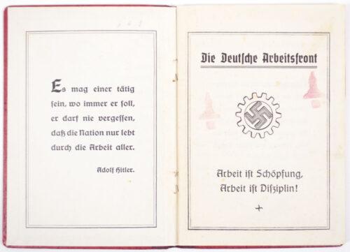 Deutsche Arbeitsfront (DAF) Mitgliedsbuch memberbooklet