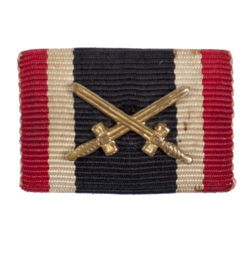 Feldspange Kriegsverdienstkreuz mit Schwerter - Ribbonbar War Merit Cross with Swords
