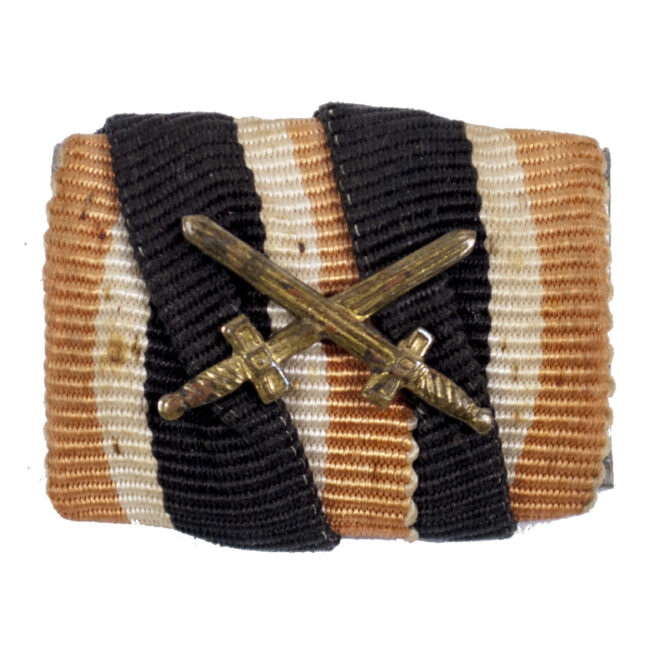 Feldspange Kruegsverdienstkreuz mit Schwerter Single ribbonbar war merit cross with swords