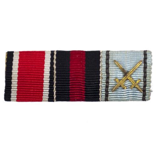 FeldspangeRibbonbar with EK2, Sudetenmedaille and Bulgarian Merit Cross