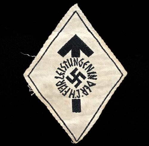 Hitlerjugend (HJ) Leistungsabzeichen in schwarz HJ Proficiency badge in black - cloth variation