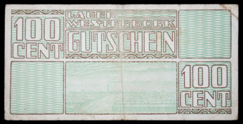 Lager Westerbork Gutschein 100 Cent (money bill)