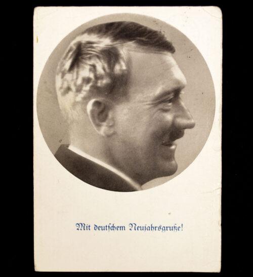 (Postcard) Adolf Hitler Mit Deutschem Neujahrsgrusse