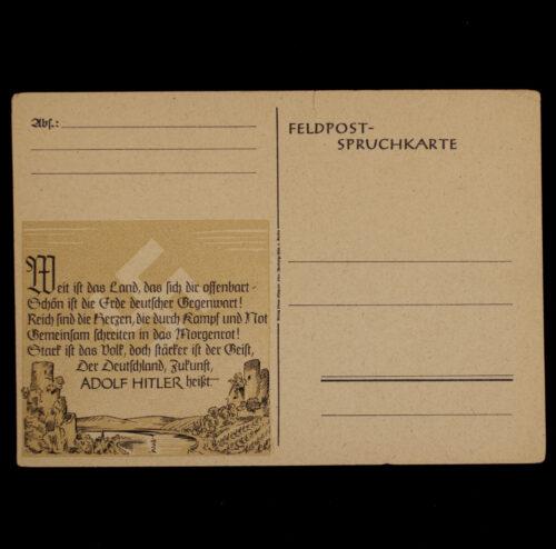 (Postcard) Feldpost-Spruchkarte (Adolf Hitler)