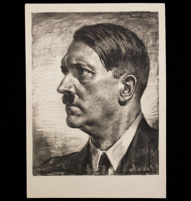 (Postcard) Hitler (after a drawing of Professor von Kursell)