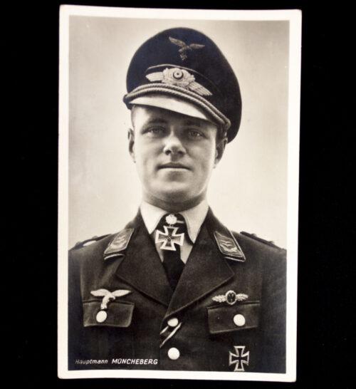 (Postcard) Ritterkreuz Hauptmann Müncheberg