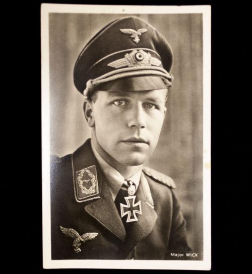 (Postcard) Ritterkreuz Träger Major Wick