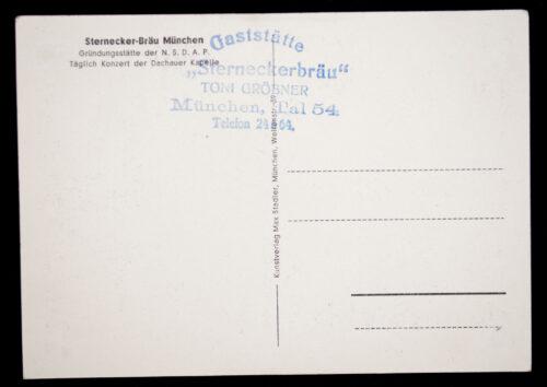(Postcard) Sternecker Bräu München Gründungsstätte der NSDAP
