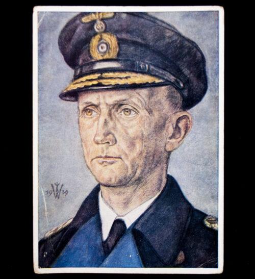 Postcard W. Willrich Konteradmiral Dönitz