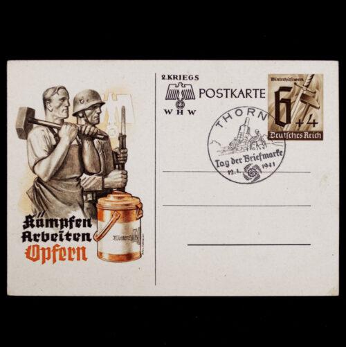 (Postcard) Winterhilfswerk (WHW) Kämpfen Arbeiten Opfern