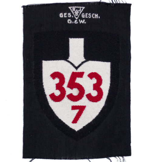 Reichsarbeitsdienst (RAD) shoulder unit patch 3537